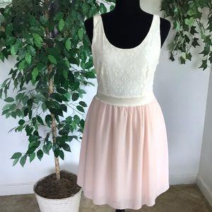Ultra Pink Lace Sleeveless Dress